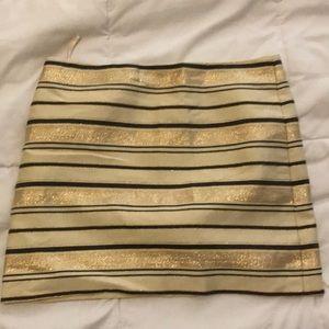 Jcrew metallic striped skirt size 2